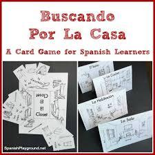 printable spanish card game for house vocabulary speak spanish