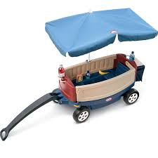 deluxe ride u0026 relax wagon with umbrella at little tikes