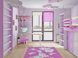 pink kids bedroom design at minimalist apartment with a hint of