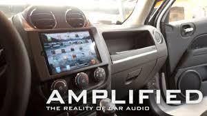 jeep patriot speakers amplified mini in car dash of a jeep patriot polk audio
