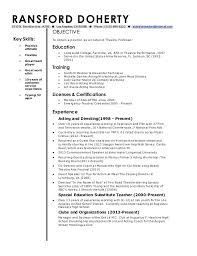 Professor Resume Objective Sample Adjunct Professor Resume Assistant Professor Resume Sample