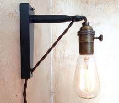 wall mounted plug in lights wall mounted plug in lights industrial pulley sconce l plug in