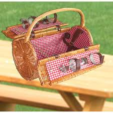 picnic basket for 4 vintiquewise 16 in x 8 5 in x 14 in wicker picnic basket with
