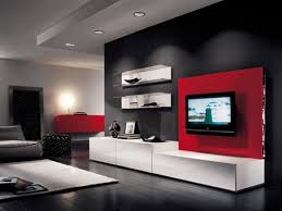 modern living room design red