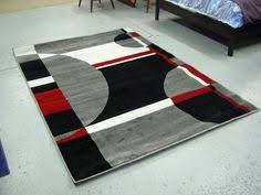 Area Rugs Modern Design Modern Black White Pile Cut Design 5x8 Area Rug Carpet New
