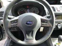 black subaru xv 2014 subaru xv crosstrek 2 0i limited black steering wheel photo