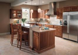 kitchen elegant maple and cherry kraftmaid kitchen cabinetry in