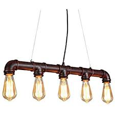 Colorful Pendant Lights Winsoon Retro Industrial Steampunk Lamp Iron Pipe Island Ceiling
