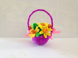 how to make a pipe cleaner basket youtube