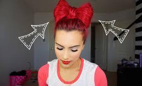 bow hair bow hair bun tutorial