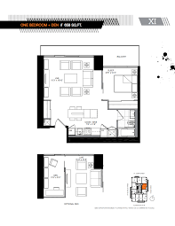1 Bedroom Condo Floor Plans by Five Condo Five Condo 1 1 Bedroom Floor Plans