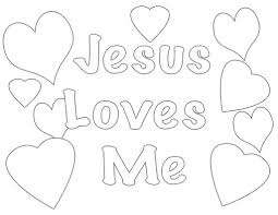 jesus loves me coloring page jesus pages for preschoolers