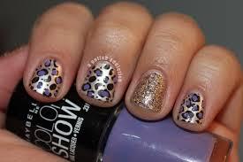 a polish addiction purple glitter cheetah stamping nail art