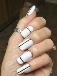 easy black and white nail designs for short nails how you can do