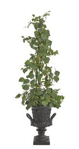 french ivy trellis green cast iron urn ndi faux floral