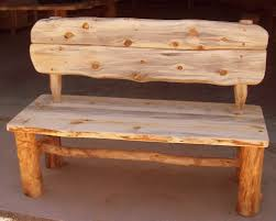 Rustic Patio Furniture by Wedding Guest Book Alternative Rustic Wood Bench With Backs