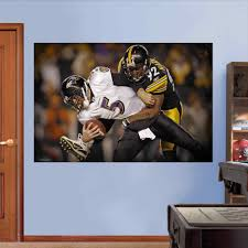 steelers wall decals home interior decor graphic fathead steelers wall decals leuveon bell pittsburgh steelers real big wall graphic lifesize antonio