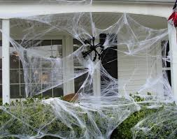 images of halloween spider web decorations trash bag spider webs