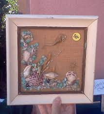 garage sale inspiration for a fun seashell craft beach treasures