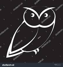 cartoon owl black white stock vector 143714917 shutterstock