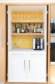 Bar Kitchen Cabinets by Kitchen Cabinet With Coffee Station And Wine Bar Transitional