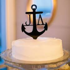 nautical cake toppers nautical wedding cake toppers