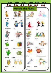 english teaching worksheets plural of nouns
