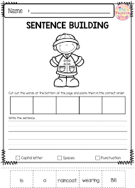 free sentence building has 10 pages of sentence building