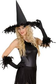witch hat with feathers 2895 halloween witch hat