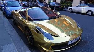 gold bugatti supercars in london june 2015 bugatti veyron gold ferrari