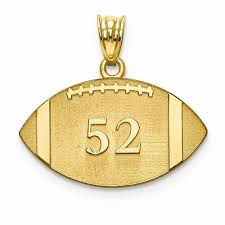 name pendant gold plated ss laser football number and name pendant forever in