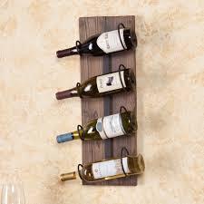 4 bottle wall mount wine rack