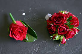 Red Rose Corsage Red Rose Buttonhole And Corsage Adam U0027s Garden Florist