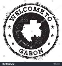 Gabon Map Gabon Map Stamp Vintage Passport Welcome Stock Vector 402237514