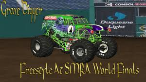 grave digger 30th anniversary monster truck rigs of rods grave digger goes off smra world finals youtube