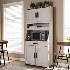 white washed kitchen cabinet pictures baxton studio portia modern and contemporary 6 shelf white washed wood kitchen storage cabinet