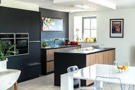 cuisine avec cuisine noir et creatif dcoration mur salon indogate