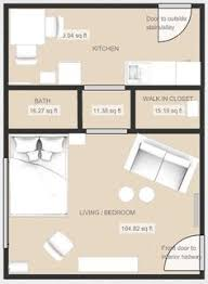 Studio Apartment Floor Plans The Studio Apartment Floor Plans Above Is Used Allow The