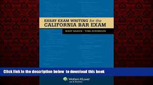 audiobook essay exam writing for the california bar exam mary