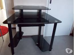 bureau noir verre bureau en verre awesome luxury bureau en verre noir