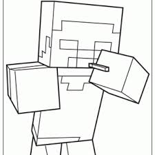 image minecraft coloring page 465