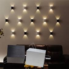 interior home lighting livingroom likable living room wall ls 3w led square l