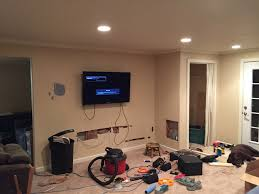 Wall Mount Tv Without Wires Living Room Setup With Wall Mounted Tv Hidden Wires And 7 1