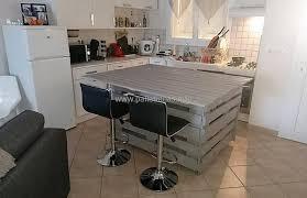 pallet kitchen island recycled wooden pallets central kitchen island pallet ideas