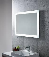 led lit bathroom mirrors appear led illuminated slim depth mirror o kane