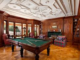 Wood Pool Table Stunning Library Billiards Room Fully Customized In Cherry Wood