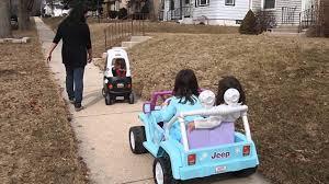 power wheels jeep frozen angel u0027s power wheels disney frozen jeep wrangler vs nate u0027s little