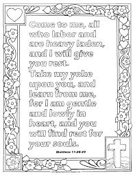 coloring pages for kids by mr adron matthew 11 28 29 print and