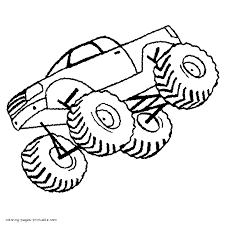 monster truck coloring sheets