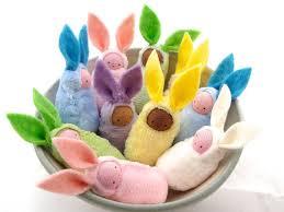 bunny easter basket easter bunny waldorf decor rabbit bunnies easter basket favor